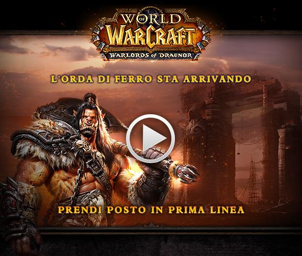 Filmato d'apertura e annuncio della data di lancio di World of Warcraft: Warlords of Draenor