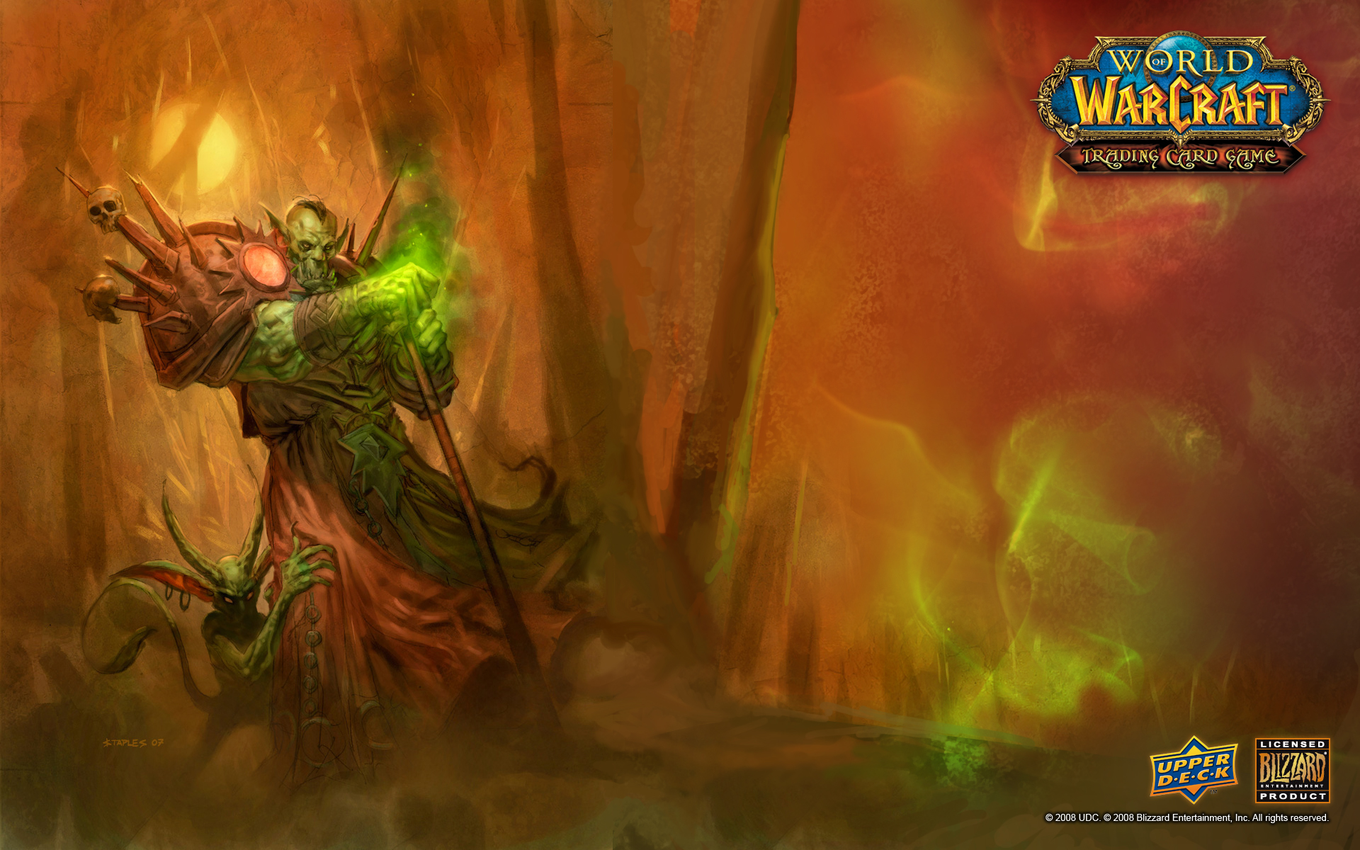 wow warlock wallpaper 238025